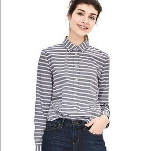 Banana Republic Dillon Fit Bold Stripe Shirt- S